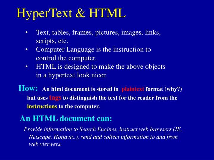 HyperText & HTML