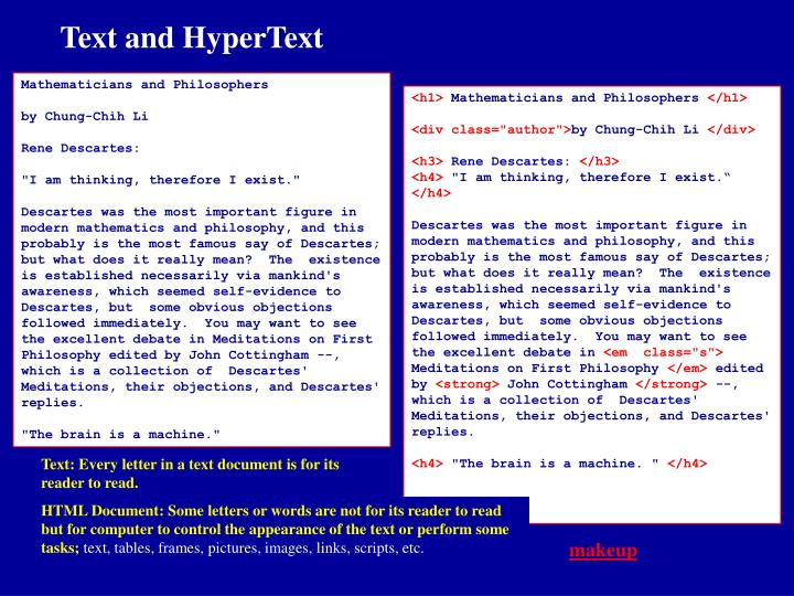 Text and HyperText