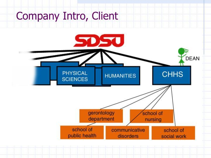 Company Intro, Client