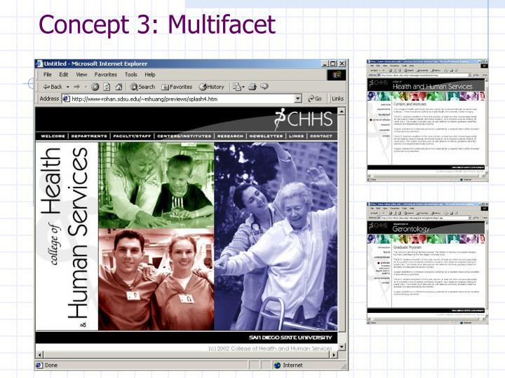 Concept 3: Multifacet
