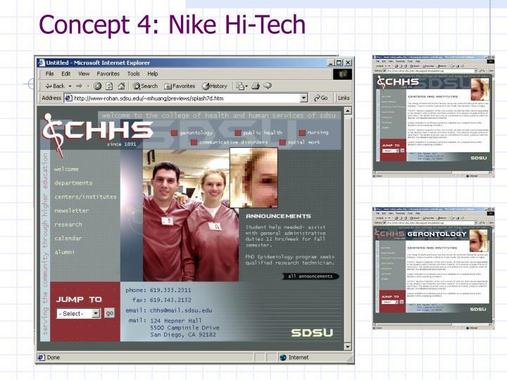 Concept 4: Nike Hi-Tech