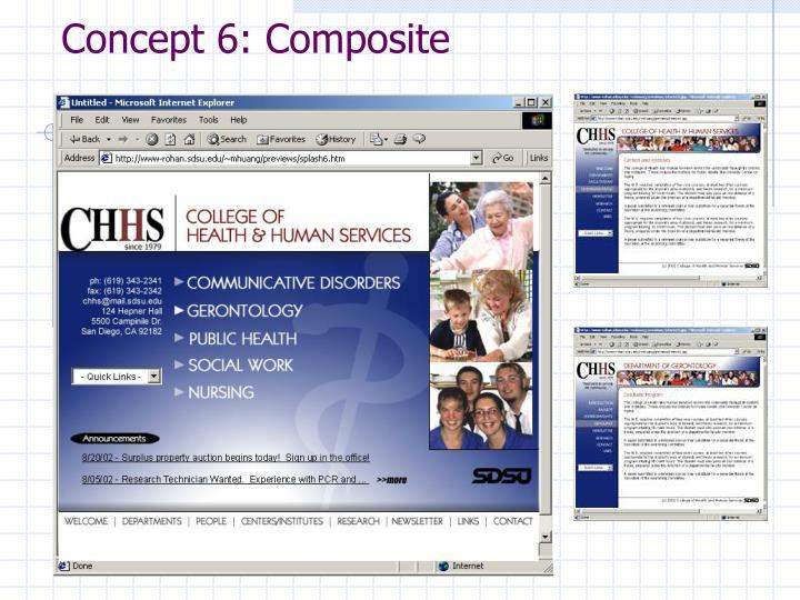 Concept 6: Composite