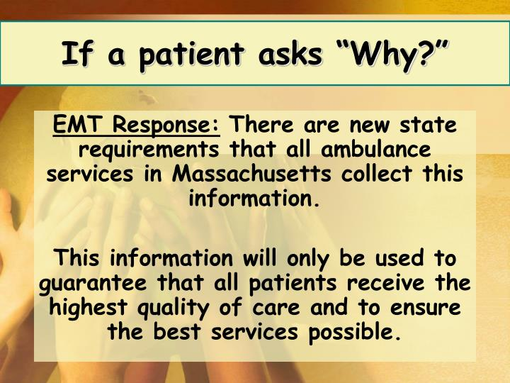 "If a patient asks ""Why?"""