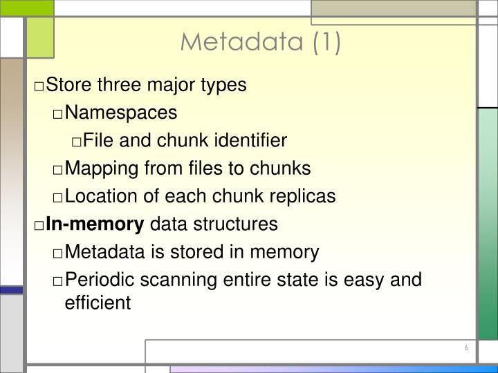 Metadata (1)