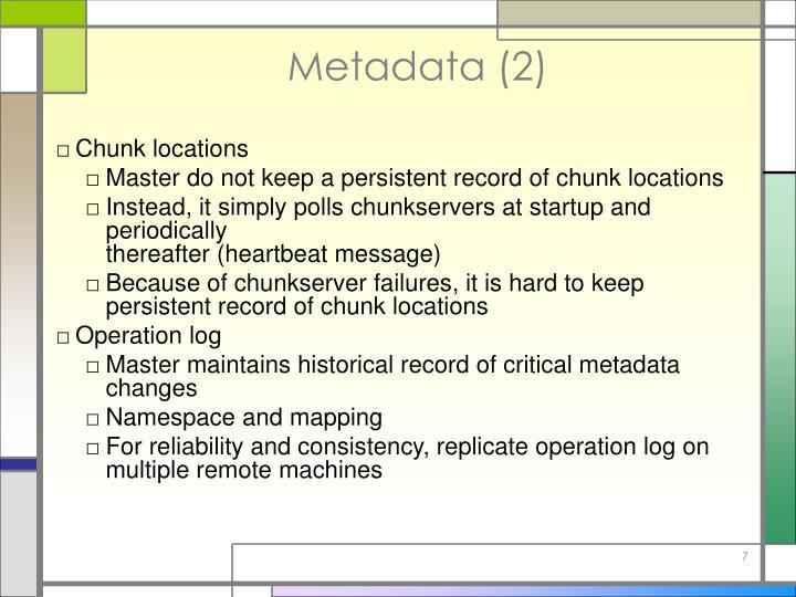 Metadata (2)