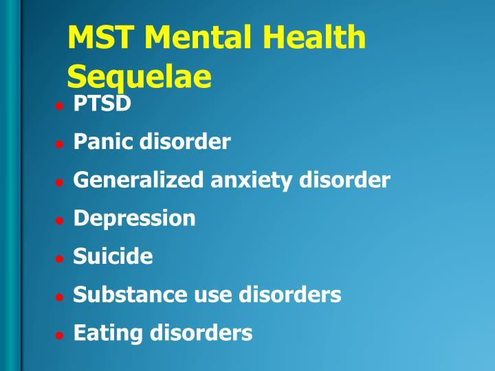 MST Mental Health Sequelae