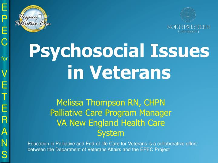 Psychosocial Issues in Veterans