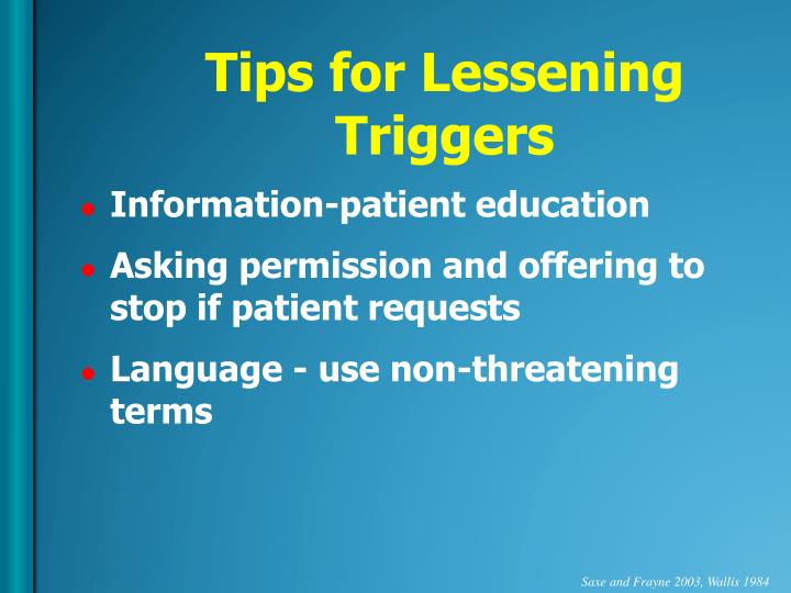 Tips for Lessening Triggers