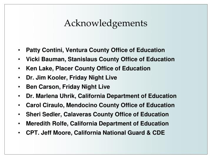 Patty Contini, Ventura County Office of Education
