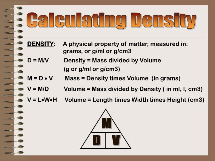 Calculating Density