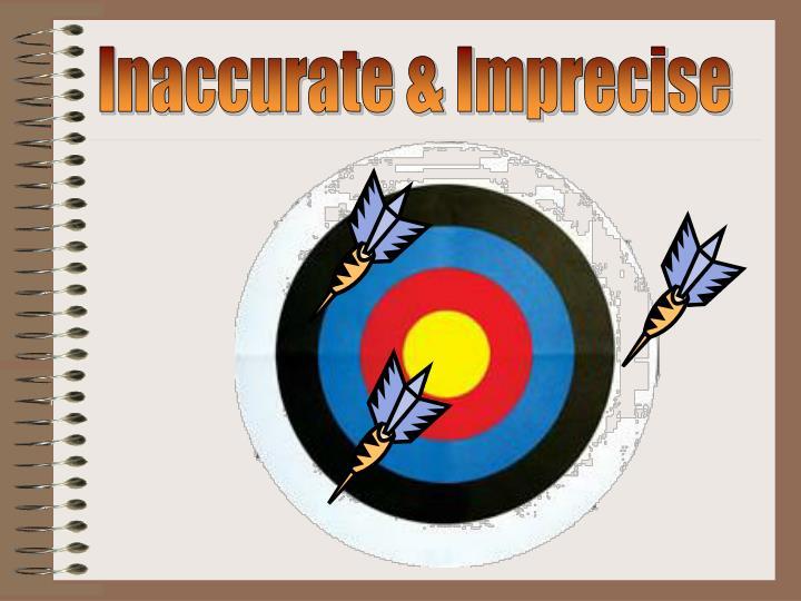 Inaccurate & Imprecise