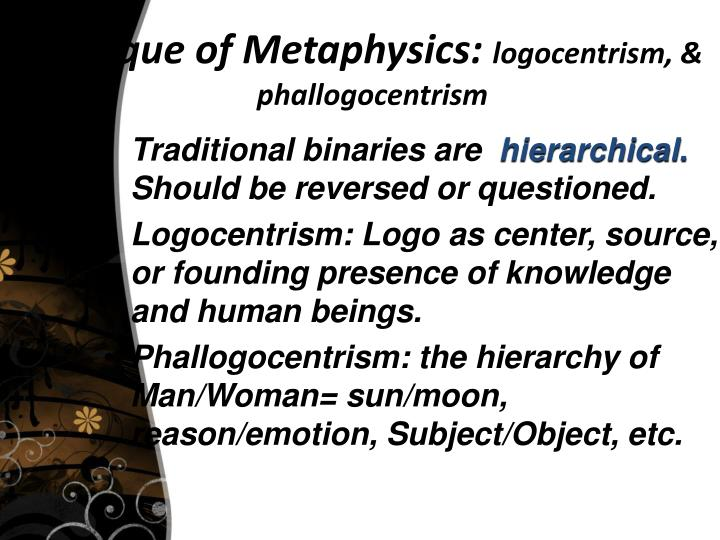 Critique of Metaphysics: