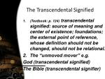 the transcendental signified