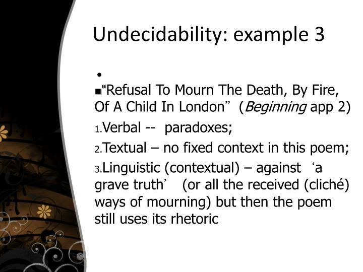 Undecidability: example 3