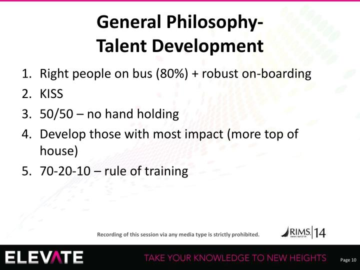 General Philosophy-