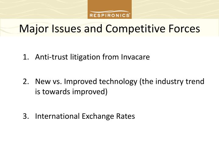Major Issues and Competitive Forces