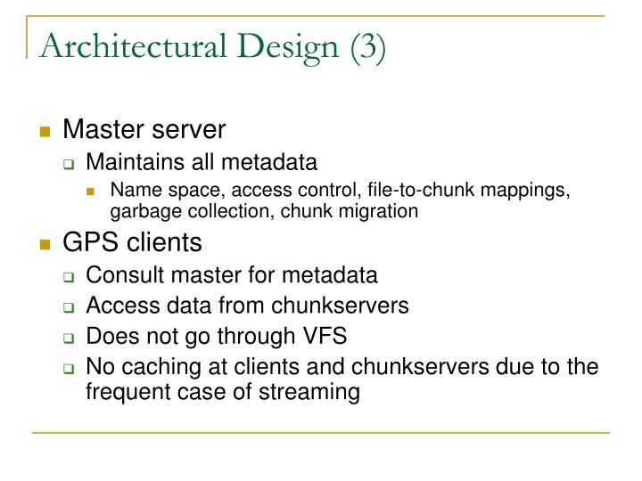 Architectural Design (3)
