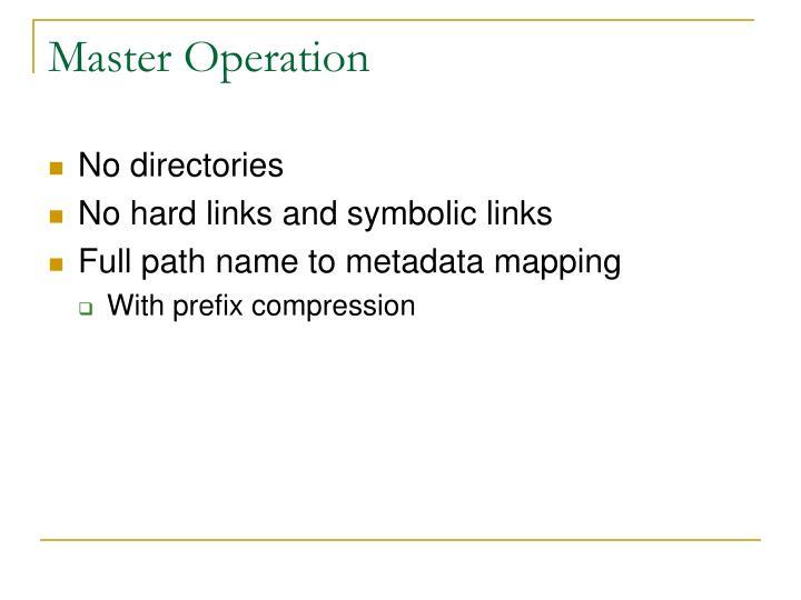 Master Operation