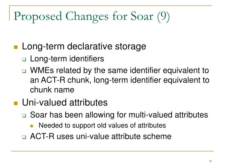 Proposed Changes for Soar (9)