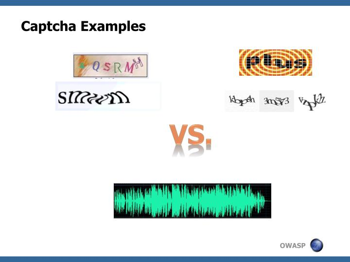 Captcha Examples