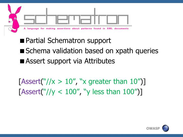 Partial Schematron support