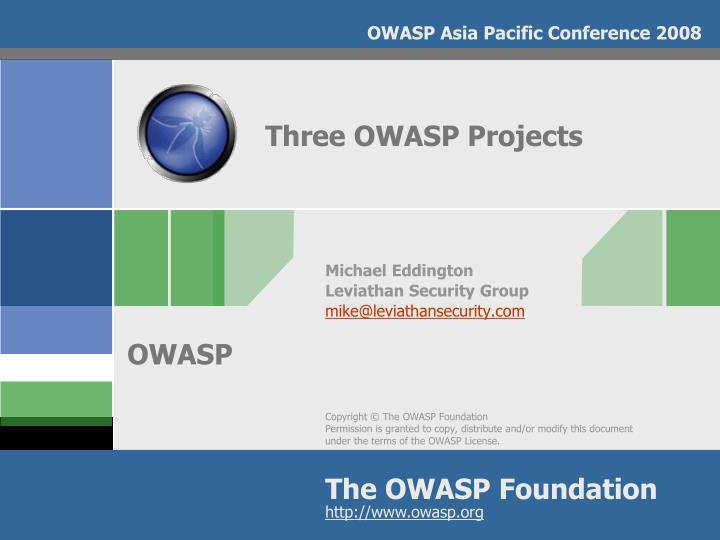 Three owasp projects