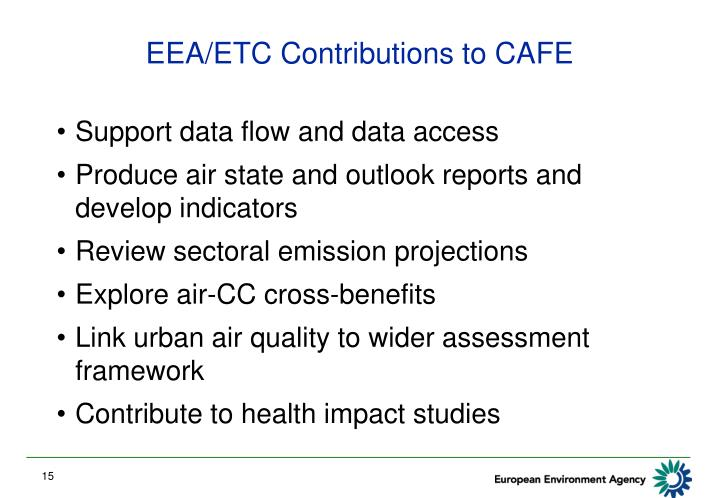 EEA/ETC Contributions to CAFE