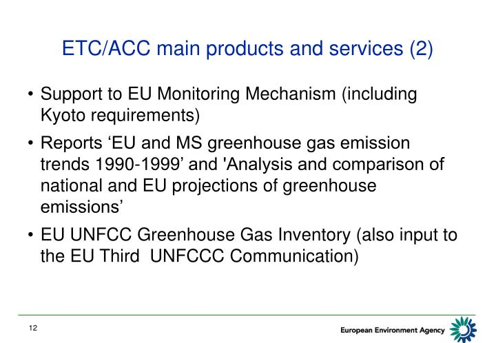ETC/ACC main products and services (2)