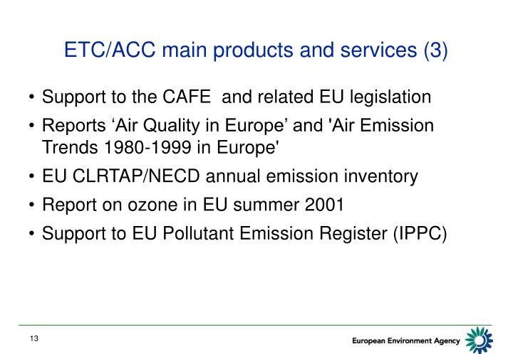 ETC/ACC main products and services (3)