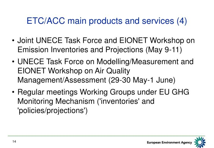 ETC/ACC main products and services (4)