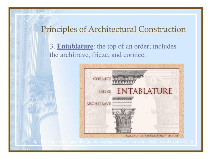 Principles of Architectural Construction