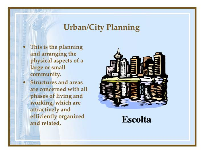 Urban/City Planning