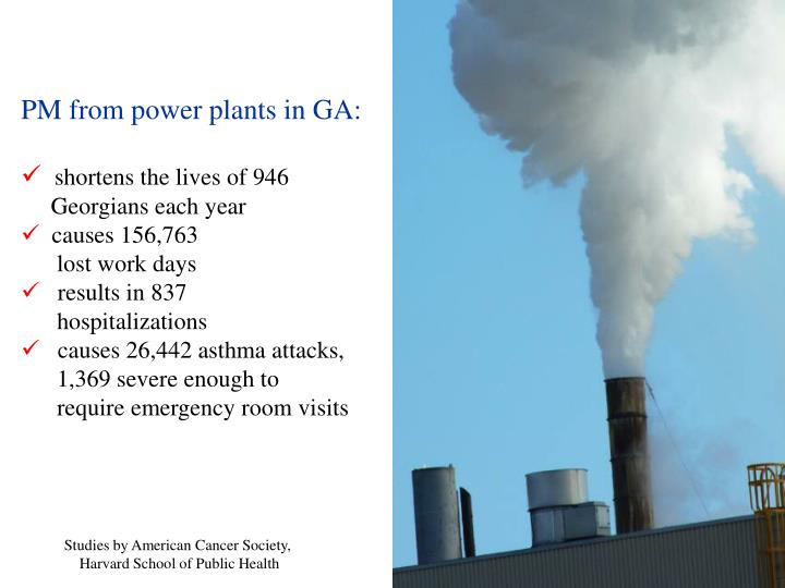 PM from power plants in GA: