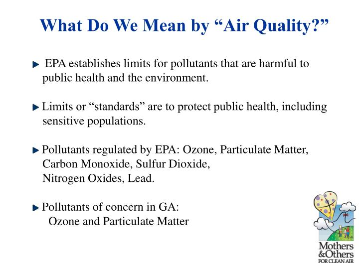 "What Do We Mean by ""Air Quality?"""