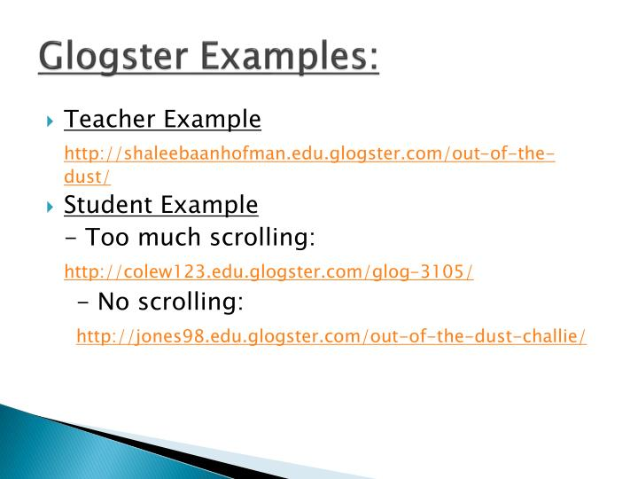 Glogster Examples: