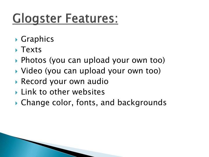 Glogster Features:
