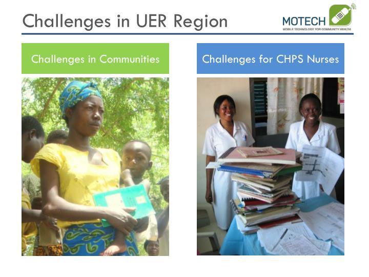 Challenges in UER Region