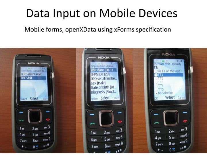 Data Input on Mobile Devices