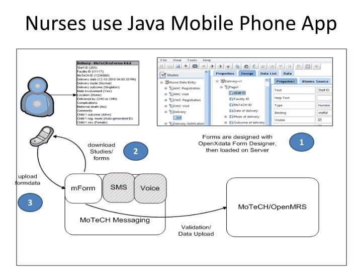 Nurses use Java Mobile Phone App