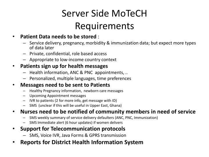 Server Side MoTeCH