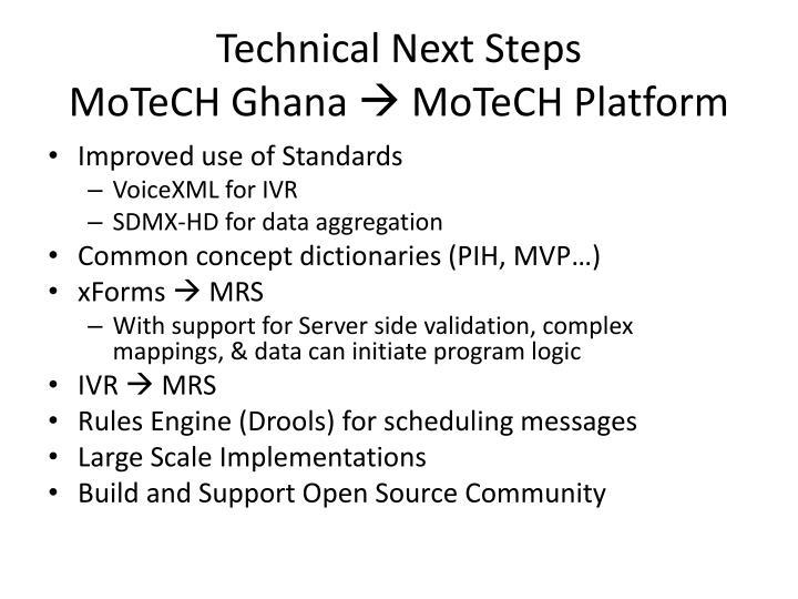 Technical Next Steps