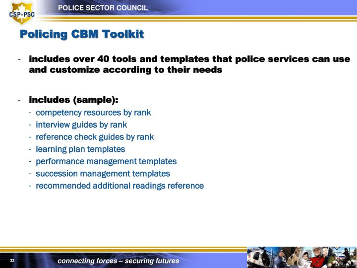 Policing CBM Toolkit