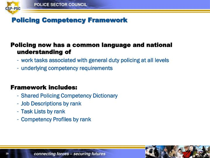 Policing Competency Framework