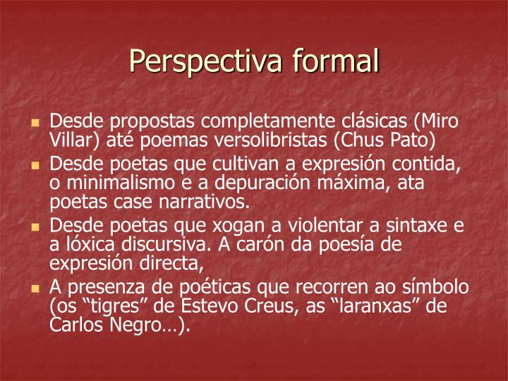 Perspectiva formal