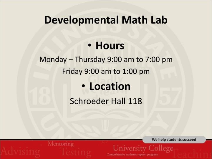 Developmental Math Lab
