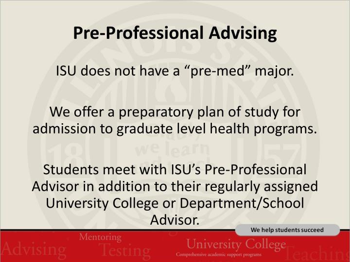 Pre-Professional Advising
