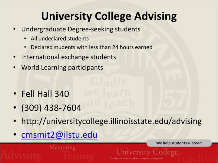 University College Advising