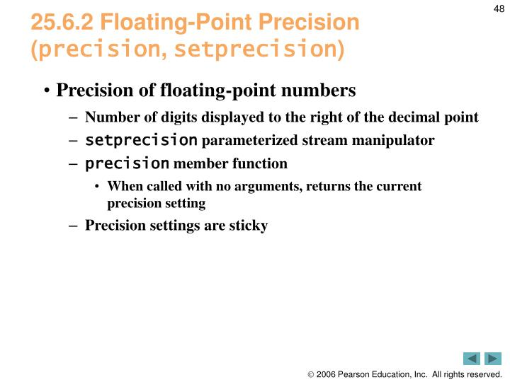 25.6.2 Floating-Point Precision (