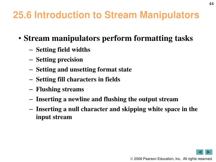 25.6 Introduction to Stream Manipulators