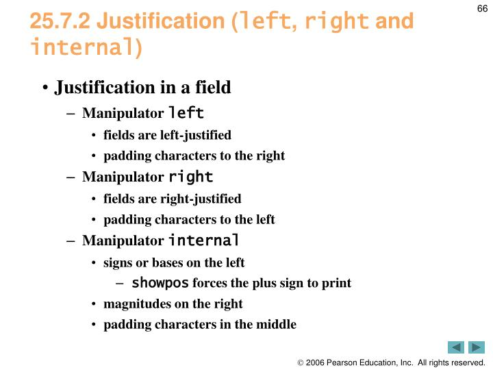 25.7.2 Justification (
